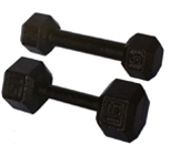 Painted dumbbell