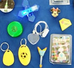 Flash Pin and key chains